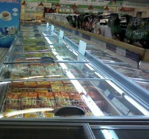 超市节能改造冷冻岛柜加盖