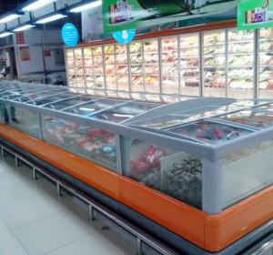超市展示柜门框系统